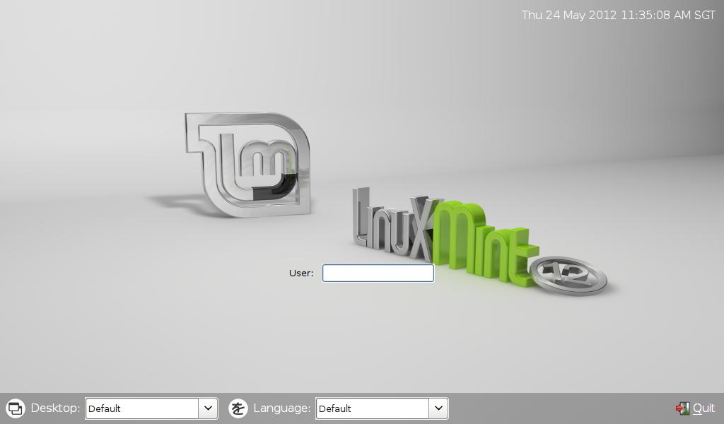 Default Linux Mint LXDM Background